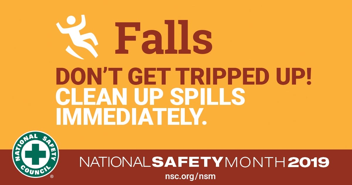 National Safety Month Slip and Falls
