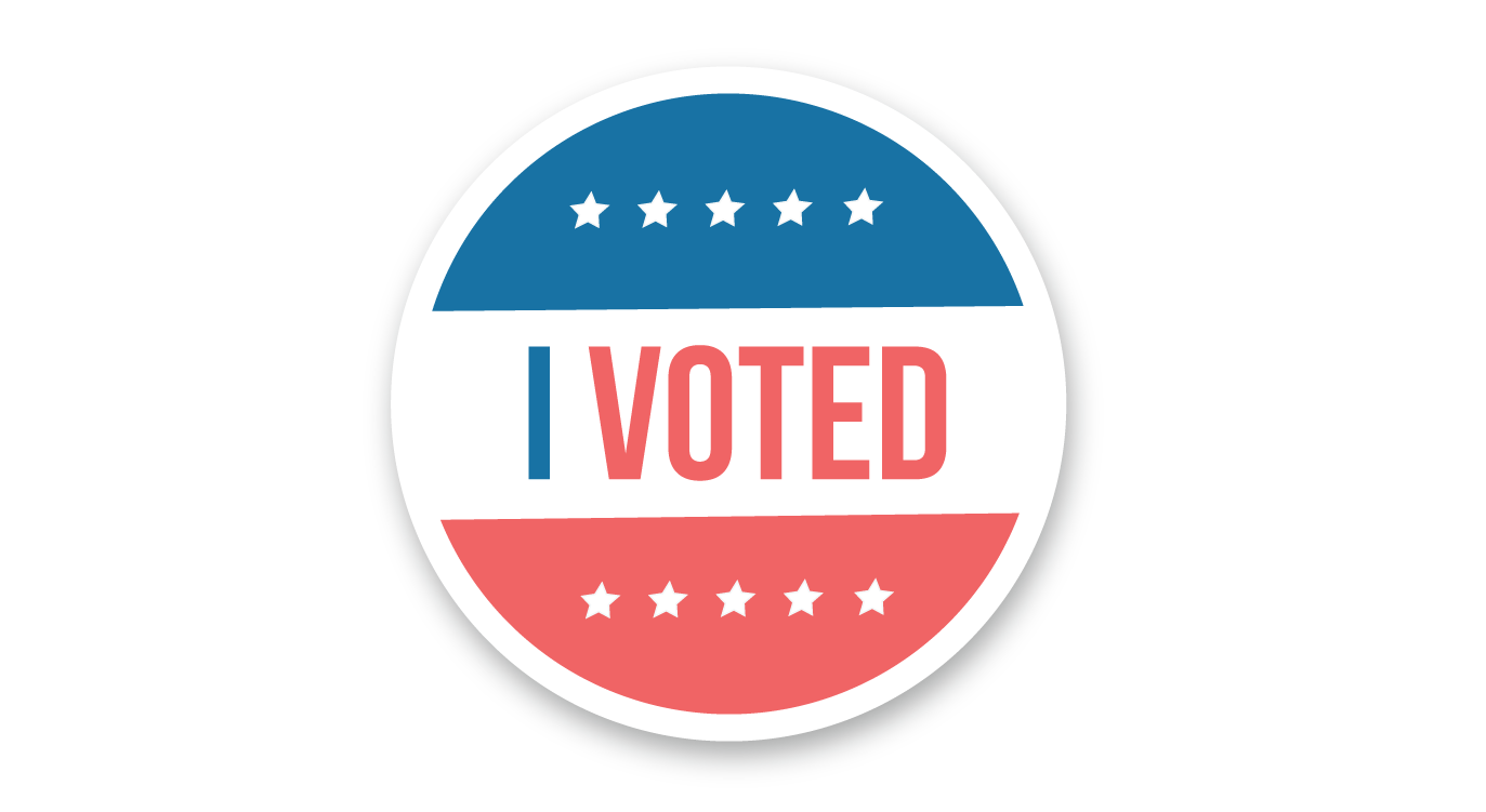 I voted 2020 presidential election sticker