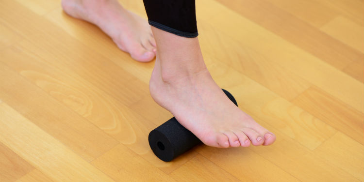 stretching heel