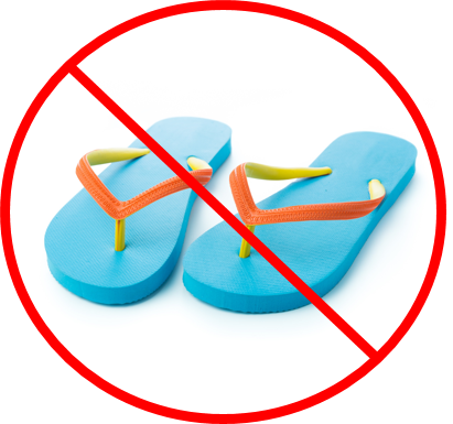 Just say no to toddler flip flops!