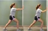 Woman doing heel and achilles tendon stretch