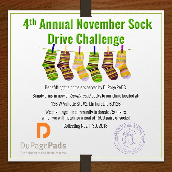 Poster with information about the sock drive