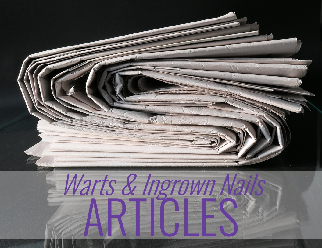 newspapers and the words: Warts & Skin Conditions Articles