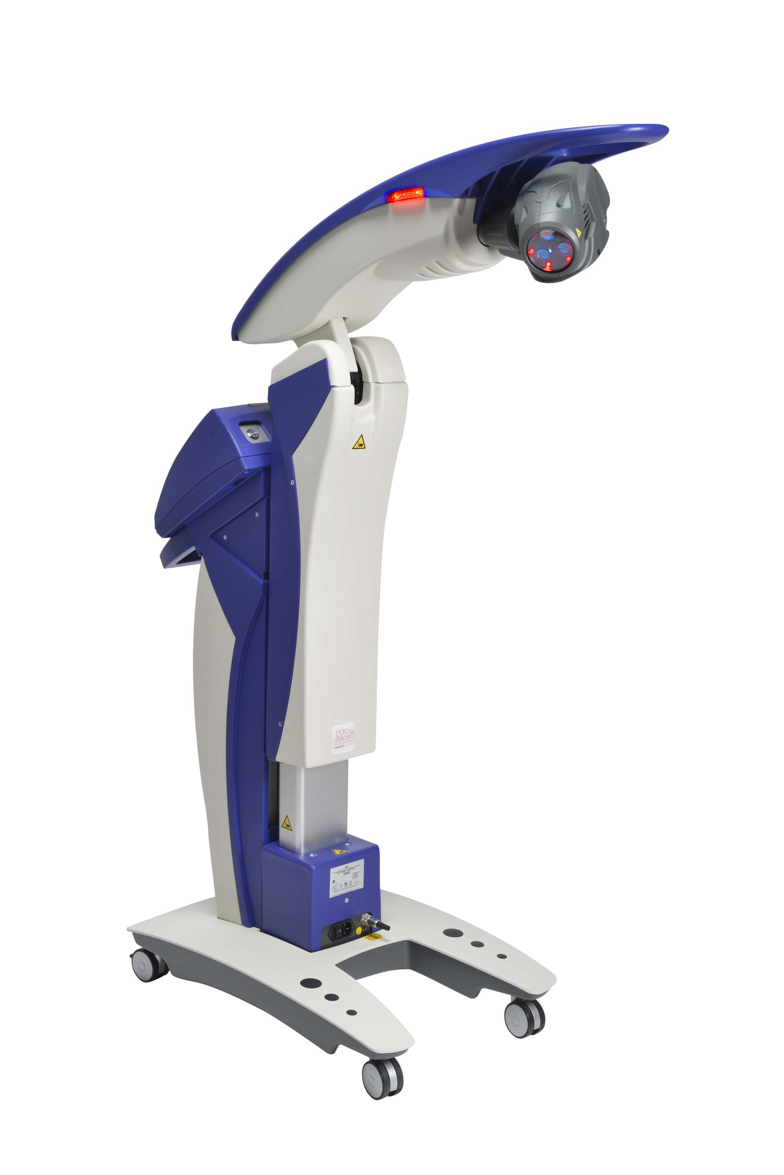 mls laser machine blue and white with red light