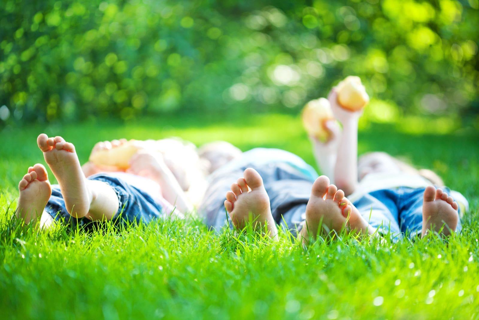 family bare feet