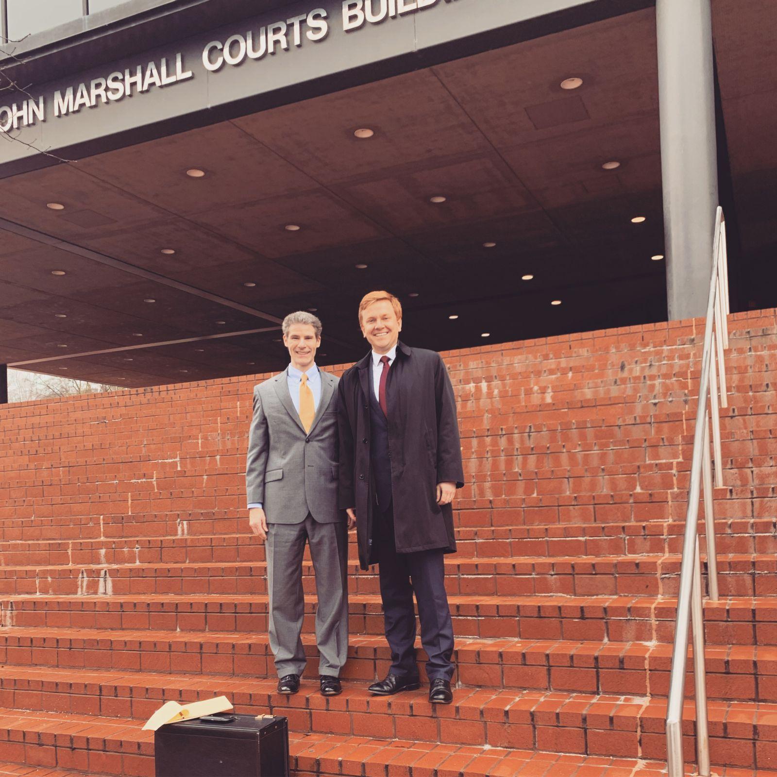 Attorneys Rob Fox and Van Smith