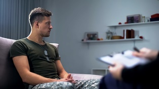 Receiving PTSD treatment while on active duty