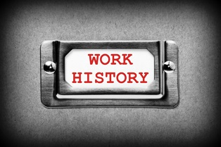 work history for SS disability
