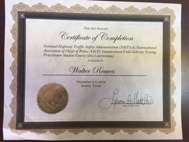 NHTSA Certification