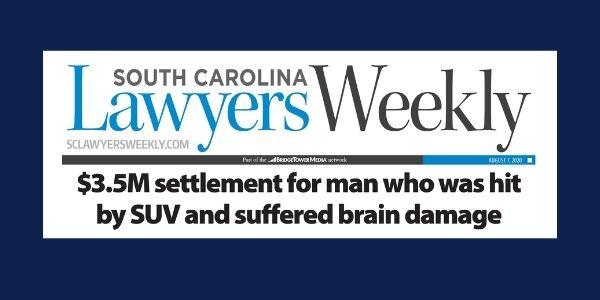 News clipping for $3.5 Million settlement for brain injury