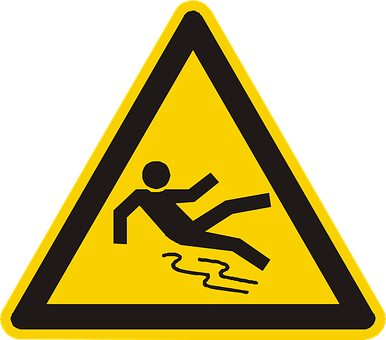 Workplace injuries warning sign