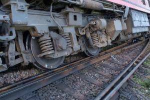 derailed train in South Carolina