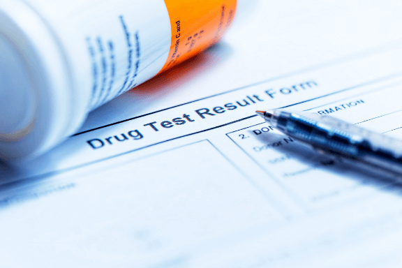 Drug test form after work injury