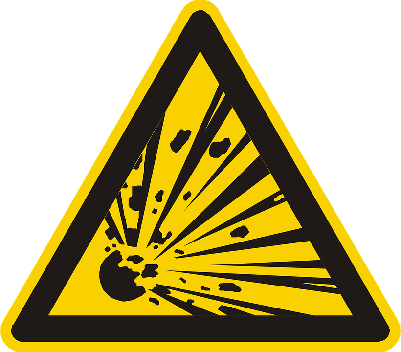 Product defect warning sign