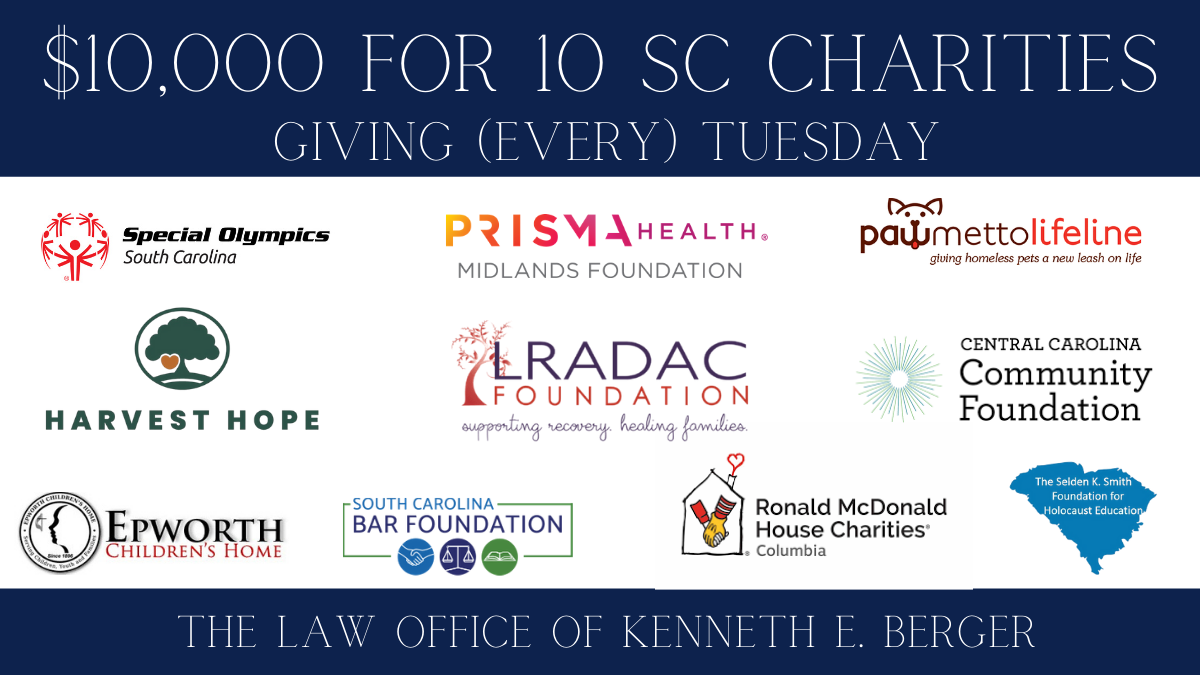 10,000 For 10 SC Charities