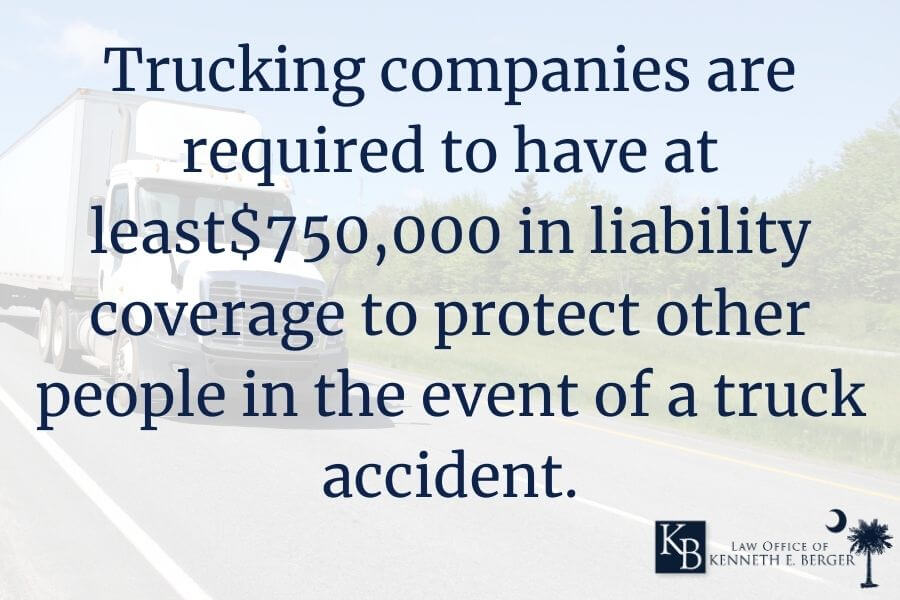 Minimum insurance policies for trucking companies