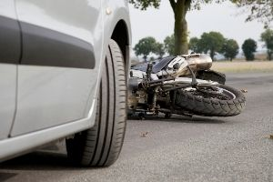 Car rear-ended motorcycle