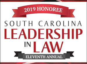 South Carolina award winning lawyer badge