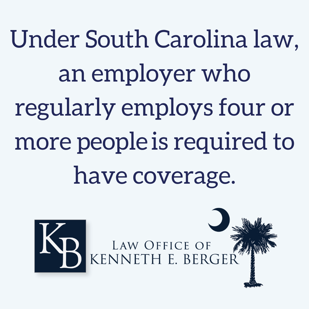 SC law for workers comp insurance