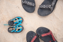 family sandals on myrtle beach
