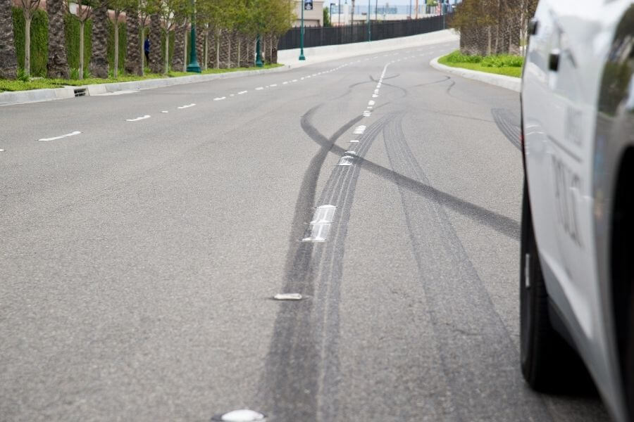 Skid Marks from car accident