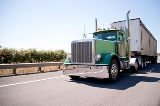 A Speeding Semi-Truck on a South Carolina Road