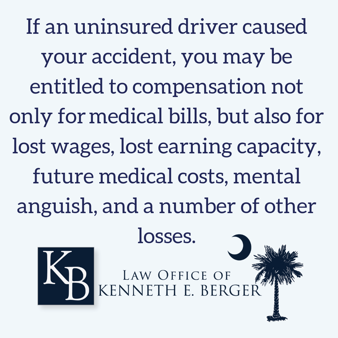 What compensation you are entitled to after a wreck with an uninsured driver