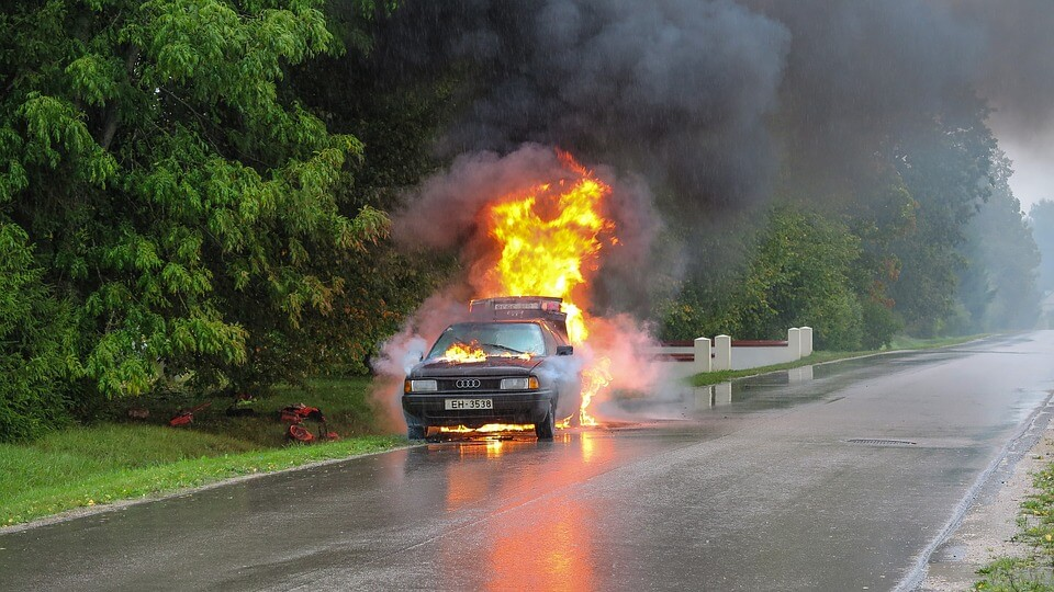 Car accidents cause severe burn injuries