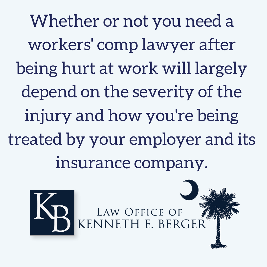 Explains when you need a workers comp lawyer