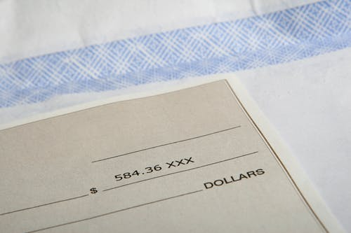Receiving a workers' comp check