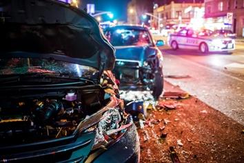 Car Wreck Debris After a Horrible Accident