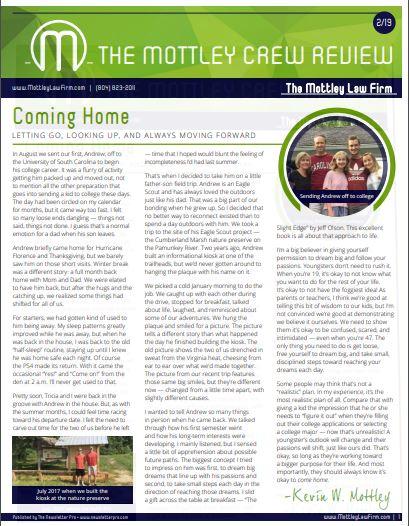 February 2019 newsletter cover