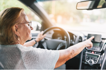 Elderly drivers are at a higher risk on the road.