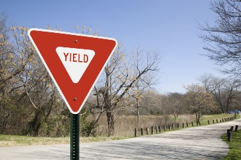 Failure to yield is a common cause of car accidents.