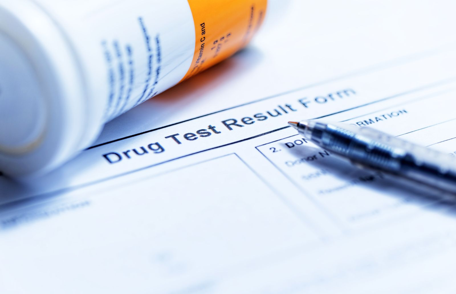 Drug Test Report Form