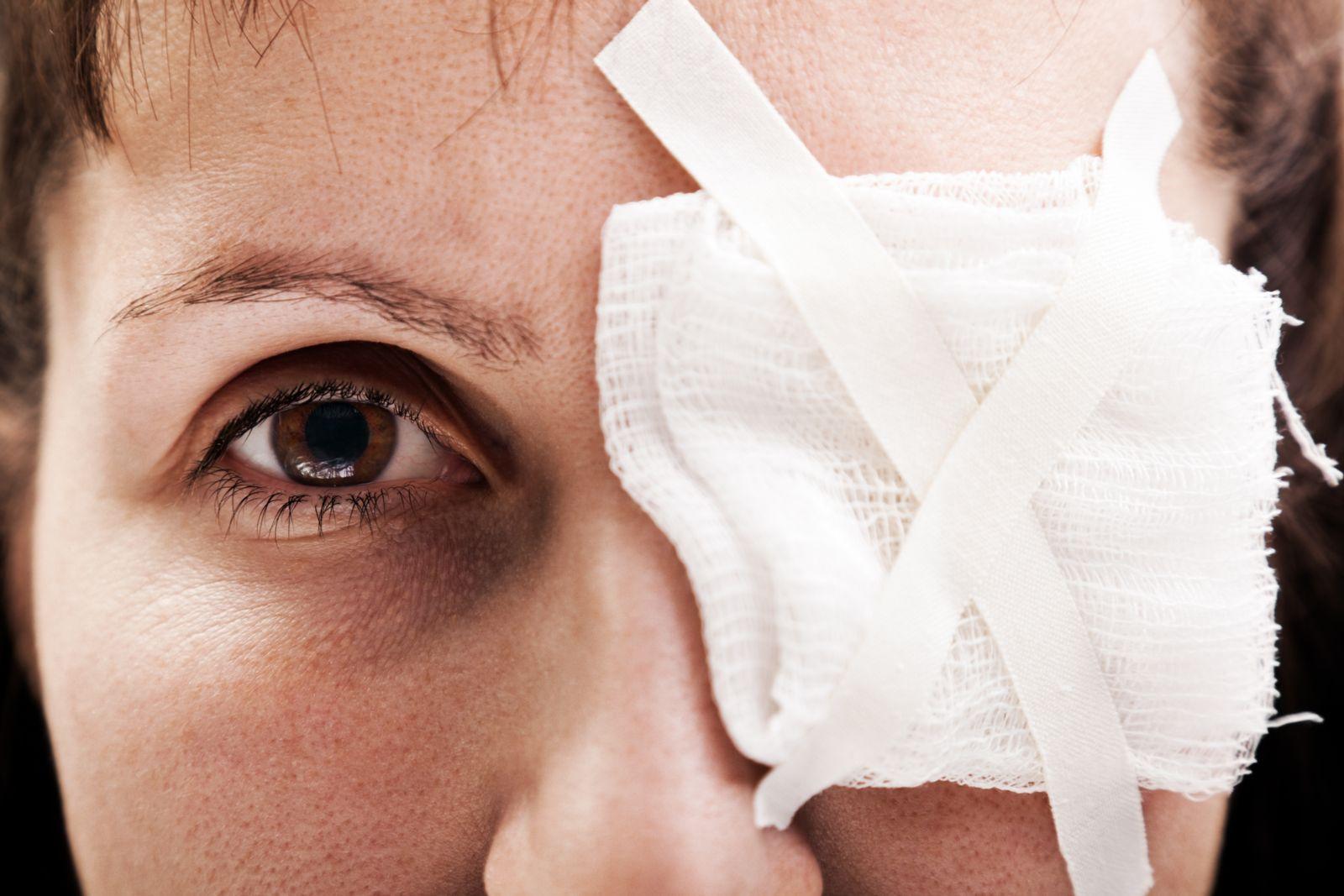 Woman With Bandaged Eye