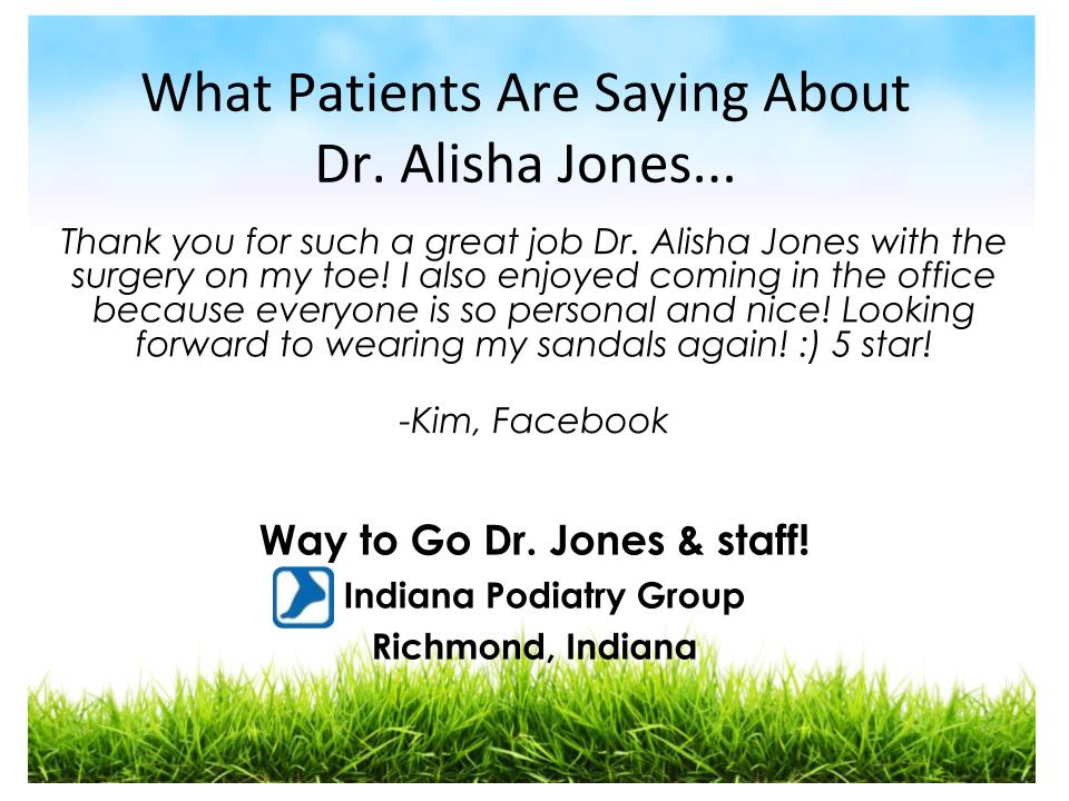 Thank you for such a great job Dr. Alisha Jones