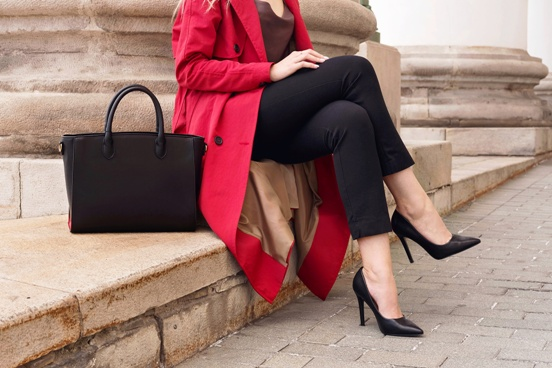 professional woman in high heels