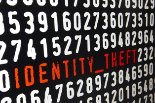 Identity Theft Coding on a Computer Screen