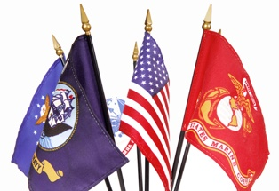 United States Flag and Military Flags Cardoza Law Corporation