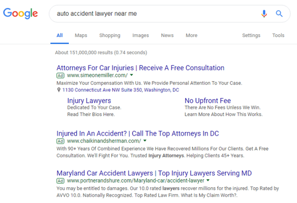 How Attorney Ads Appear in Google