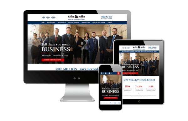 attorney website redesign