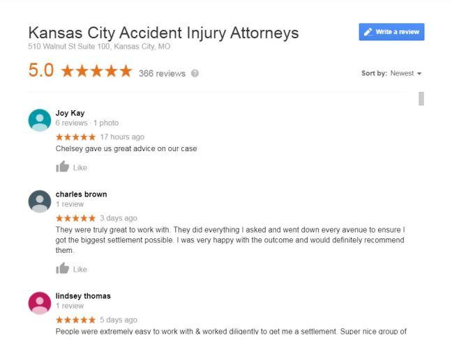 Attorney Google Reviews