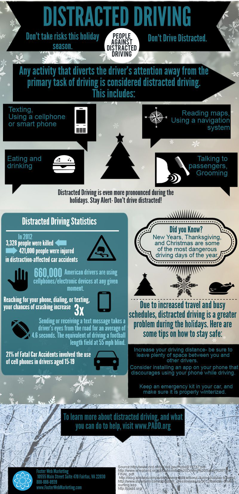 Distracted Driving Infographic Foster Web Marketing