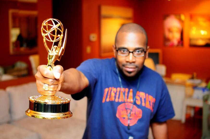 Don Napoleon With Emmy Award