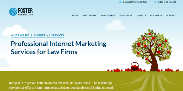 Law firm website design example of good colors