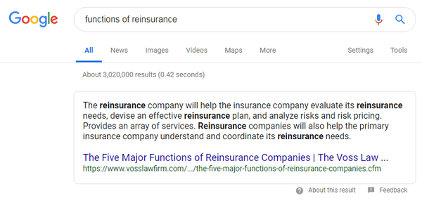 Featured Snippet Without Image