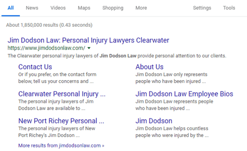 Example Branded Search Display