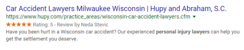 Law Firm Search Result in Google