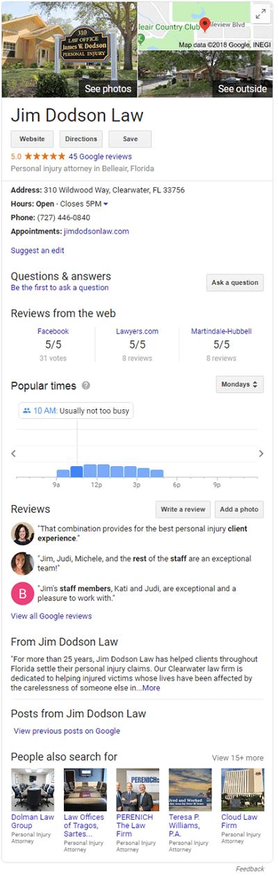 Example Google Knowledge Panel
